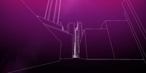 3D Architecture Purple