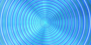 Blue Optical Illusion
